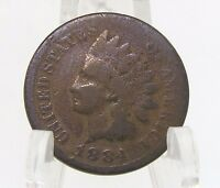 1884 INDIAN HEAD CENT COIN 1 PENNY UNITED STATES CURRENCY