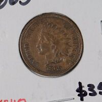 1865 1C FANCY 5 BN INDIAN CENT EXTRA FINE 163635