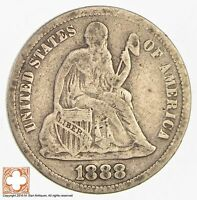 1888 SEATED LIBERTY SILVER DIME 3143
