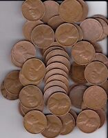 1953D WHEAT PENNIES FULL ROLL OF 50 PENNIES NICE COINS ALL READABLE DATES.