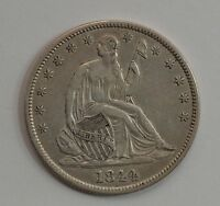 1844 LIBERTY SEATED HALF DOLLAR DOUBLED DATE G91