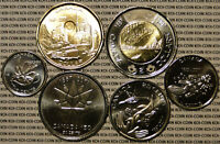 BU UNC CANADA 1867 2017 150TH COMMEMORATE 6 COIN SET $2 $1 50C 25C 10C 5C
