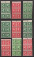 USA SMALL SELECTION OF EARLY BOOKLET PANES - OG MH   NO RESERVE