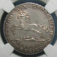 1825 HANNOVER 16 SILVER GUTE GROSCHEN   GRADED MS 61 BY NGC