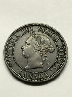 1876 H CANADIAN LARGE CENT XF 2041