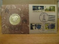 PROJECT VIKING  MISSION TO MARS  1976 COMMEMORATIV EISENHOWER S COIN AND STAMPS