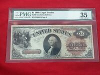 FR 28 1880 SERIES $1 UNITED STATES LEGAL TENDER NOTE PMG 35 CHOICE FINE