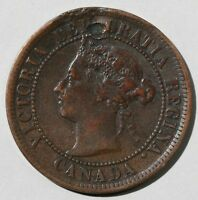 1888 CANADIAN COPPER LARGE CENT COIN CANADA ONE CENT CULL