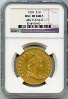 1801 $10 LIBERTY CAPPED BUST GOLD EAGLE NGC UNC DETAILS CERTIFIED COIN   JX163