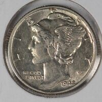 1942 10C MERCURY DIME ABOUT UNCIRCULATED 164104