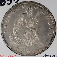 1855 50C ARROWS LIBERTY SEATED HALF DOLLAR EXTRA FINE 162962
