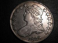 1826 BUST HALF DOLLAR   FANCY 2 AND CLOSE DATE VARIETY    NICE   12 PHOTOS BB