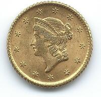 1849 GOLD $1 TYPE 1 LIBERTY HEAD OPEN WREATH NO L AND