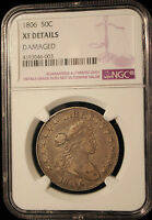 1806 DRAPED BUST HALF DOLLAR CERTIFIED NGC EXTRA FINE  DETAILS