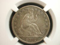 1846 TALL DATE SEATED LIBERTY HALF DOLLAR 50C NGC CERTIFIED VF 30