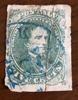 USA CONFEDERATE STATES 1 FAULTY REPAIRED SPACEFILLER, FREE US SHIP, CAT $175