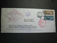 USA C14-15 COVER 1930 GRAF ZEPPELIN EUROPE PAN AMERICA FLIGHT
