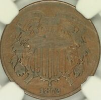 1872 TWO CENT NGC F12