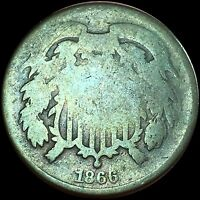 1866  DATE 2 CENT  BROWN TONE247