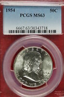 1954 P PCGS MS63 FRANKLIN HALF DOLLAR B1219