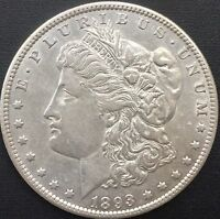 1893 O MORGAN SILVER DOLLAR AU DETAILS  COIN ONLY - 300,000 MINTED