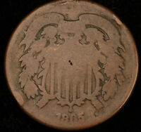 1865 UNITED STATES TWO CENT PIECESEE PHOTOS