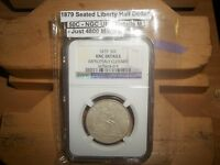 1879 SEATED LIBERTY HALF DOLLAR ONLY 4,800 MINTED  NGC UNC