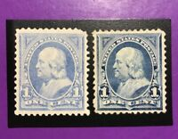 TDSTAMPS: US STAMPS SCOTT246 247 2 MINT H OG, 247 CREASE CV$95.00