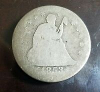 1853 O SEATED LIBERTY QUARTER WITH ARROWS AND RAYS