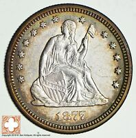 1877 S SEATED LIBERTY SILVER QUARTER 1839