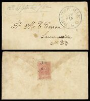 CSA 10C ROSE 5 AS FLAP SEAL ON 1862 BRANCHVILLE SC COVER, CAT $800