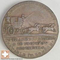 1790S GREAT BRITAIN MIDDLESEX MAIL COACH 1/2 PENNY CONDER TOKEN XB97