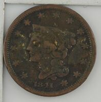 1841 BRAIDED HAIR LARGE CENT Z59