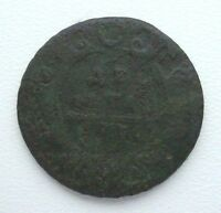 RUSSIA DENGA 1730 COPPER COIN S11