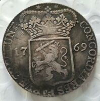 1769 NETHERLANDS THALER CONCORDIA IMPERIAL OLD SILVER COIN EMPIRE