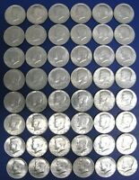 48 KENNEDY HALF DOLLARS LOT 1971 TO 1979   11 1976 BICENTENNIAL ,VERY NICE