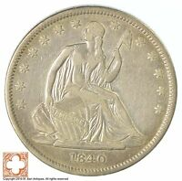 1840 SEATED LIBERTY SILVER HALF DOLLAR XB91