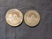 LOT OF 2 1970 DANIEL BOONE COIN CLUB MEDALS BERKS COUNTY PA