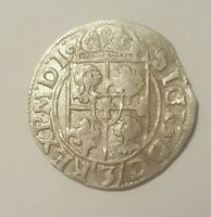 MEDIEVAL SILVER HAMMERED COIN  GREAT DETAILS   1616  1 FREE COIN