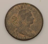 1803 DRAPED BUST SMALL DATE, LARGE FRACTION LARGE CENT Q23