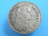 1676 KING CHARLES II   SILVER HALFCROWN COIN    VARIETY   HIGH VALUE