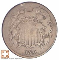 1871 TWO CENT PIECE YB30