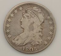 1808 CAPPED BUST NORMAL DATE SILVER HALF DOLLAR Q04