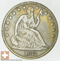 1872 SEATED LIBERTY SILVER HALF DOLLAR 5734
