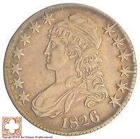 1826 CAPPED BUSTED HALF DOLLAR SB11