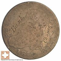 1812 CAPPED BUSTED HALF DOLLAR  CONDITION: GRAFFITI XB86