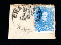 CONFEDERATE CSA STAMPS  4 ON PIECE 4 MARGINS TIED TO PIECE SCOTT VALUE $125.00