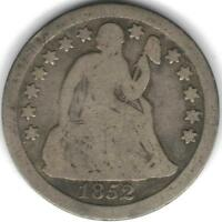 TMM 1852 10C SEATED LIBERTY DIME GOOD