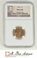 MS65 RD 1930 LINCOLN WHEAT CENT   GRADED NGC SC25