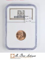 MS66 RD 1936 CENT LINCOLN WHEAT   OLD HOLDER   GRADED NGC 5145
